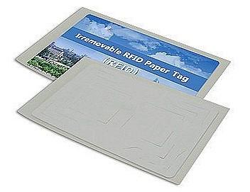 N821 Tamper proof UHF GEN 2 RFID Paper Material Tag